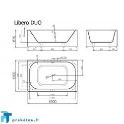 LIBERO DUO vonios, U formos fasadinis skydas