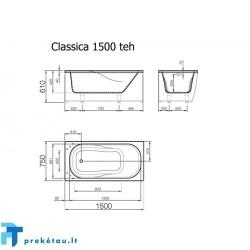 CLASSICA 150 vonios fasadinis skydas
