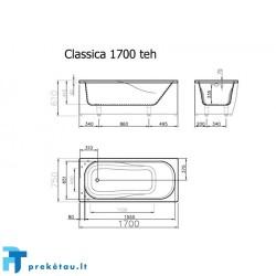 CLASSICA 170 vonios fasadinis skydas