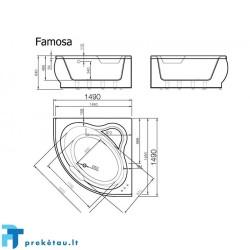 FAMOSA vonios fasadinis skydas