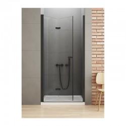 Dušo durys NEW SOLEO BLACK 90cm, kairė