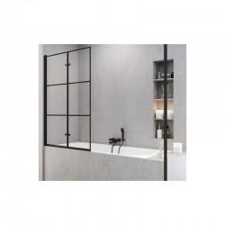 Vonios sienutė SUPERIA BLACK 100cm, kairė